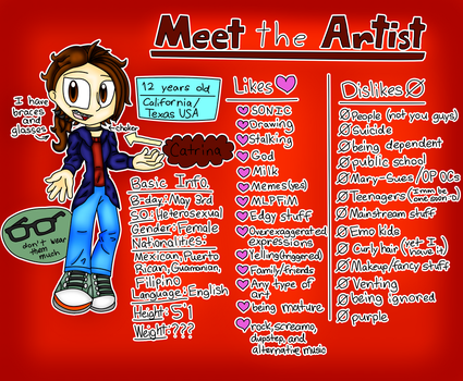 Meet the Artist! by CatHedgehog