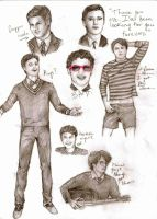 Darren Criss Doodles by Miss-Ami