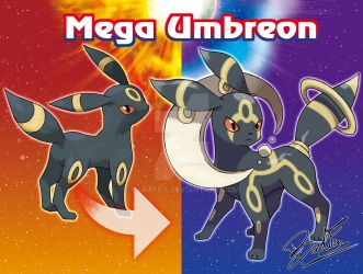 Mega Umbreon by badafra