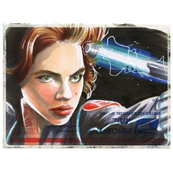 Copic Black Widow on a 228. by danomano65