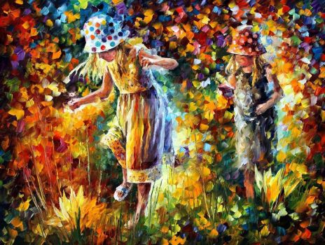 Two Sisters by Leonid Afremov by Leonidafremov
