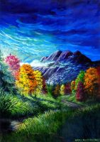 Fall Four Seasons Series by grogersart