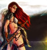 Red Sonja by FedeSchroe