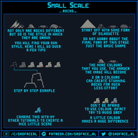 Small Scale Pixel Art Tutorial - Rocks by SadfaceRL