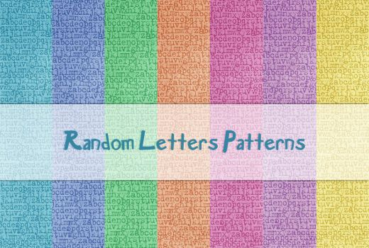 Random Letters Patterns by powerpuffjazz