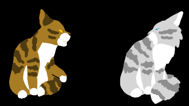 Leafpool vs Feathertail by RavenfeatherOfRC
