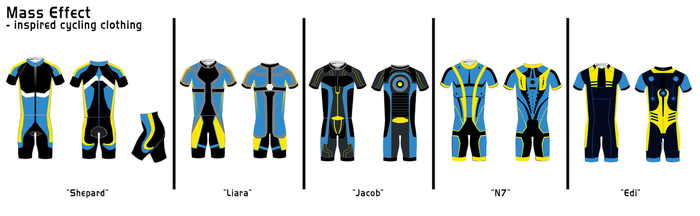 Mass Effect Cycling Clothing - Sketches by Illusive-Design