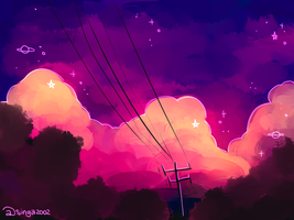 Aesthetic clouds by Singa2002