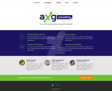 AXG Website redesign by mcwebalizer