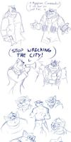 Swat Kats Sketch Dump 4 by Ty-Chou