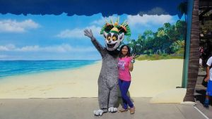 King Julien and I strike a pose in USH 2 by Magic-Kristina-KW