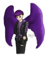 Sanders Sides - Virgil with wings by artisticTaurean