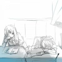 Eve and Raven in Class by AliceBaskerville001