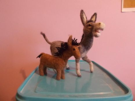 My oldest and newest donkey by Uncle-Ernest