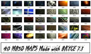 MB3D - BRYCE 7.1 Color / texture MAPs by Topas2012