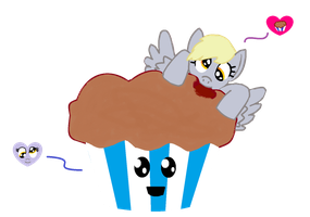 Derpy loves muffin loves Derpy by magmamagda
