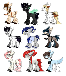 25p Pixel Ponies Batch #1 OPEN by Russet-Adopts