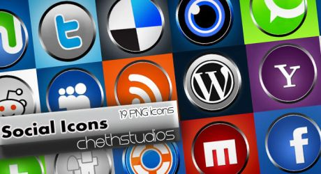 Social networking Icons -knobs by cheth