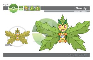 Fake Pokemon Swadfly