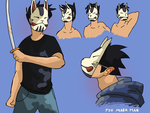 Fox Mask Man by Jersey-cow