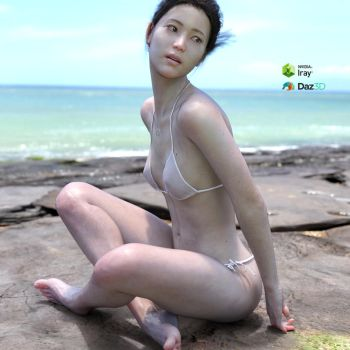 Korean woman's bikinis made in Daz3D by zniman
