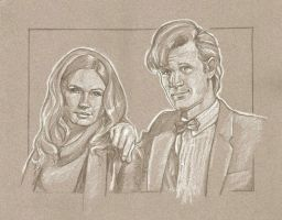 WIP The 11th Doctor and Amy by scotty309