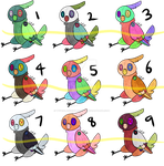 (6/9 open) Plushie Bird Adopts - 15 pts by Tygerlanders-adopts