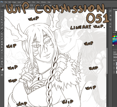 Wip commission 051 lineart by Angy89