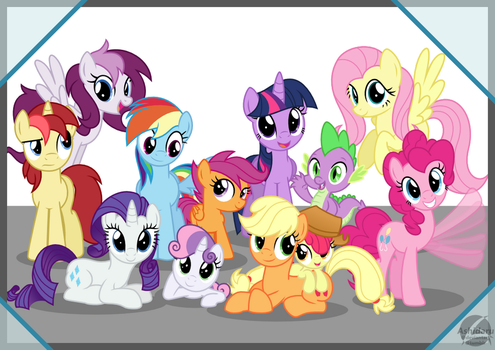 M6, CMCs and Bronies.DE Mascots by Ashidaru