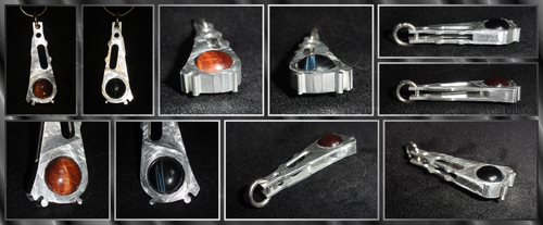 Double-Sided HDD Actuator Arm Pendant by ChimeraDragonfang
