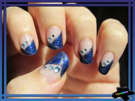 Blue Elegance Nailart by Yamialexa