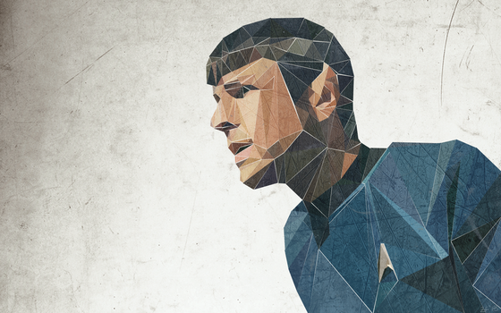 Triangular Spock Wallpaper by MrsSpock