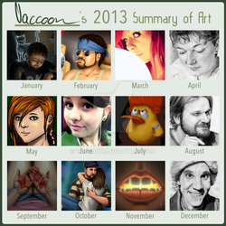 Vaccoon's 2013 Summary of Art by Vaccoon