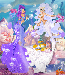 Goddesses underwater by WhisperingIllusion