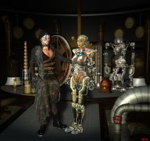 Hephaestos and the automaton by Hera-of-Stockholm