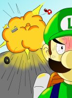 Luigi's death stare by Retro-Eternity