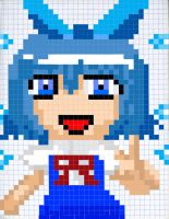 Cirno Pixelated by MegaGundamMan