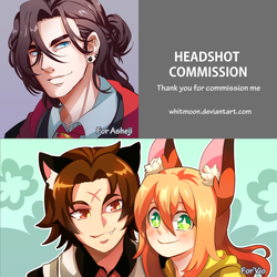 COM : Headshot Comission by whitmoon