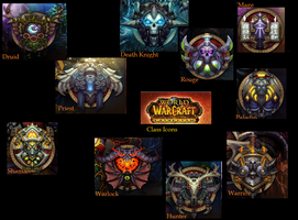 World Of Warcraft Class Icon's by YourMusicOwnsMe