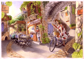 The Sunday Mornings' Baguette Courier by Shotechi