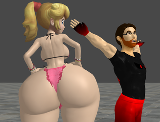 Big Booty Peach booty bumps me by zoid162010