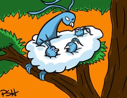 POKEDDEX Day 3: Altaria and Swablu