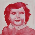10. Red portrait 0.50x0.50 m by christophoros