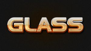 3D Glass Text Styles by stefusilviu