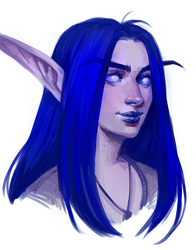 Night elf mage OC by AntheiaVaulor