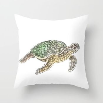 Turtle Pillow Cover by Sanakata