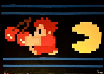 Wreck It Ralph Pacman Chase Canvas Painting by RubiksPhoenix