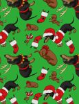 Weenie Wrapping Paper by LOOMcomics