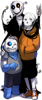 US - The Gaster Family (Trade) by Atlas-White