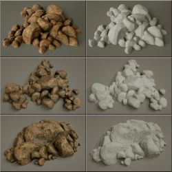Laticis Imagery FREE Object - Rock Heap 1 to 3 by Laticis